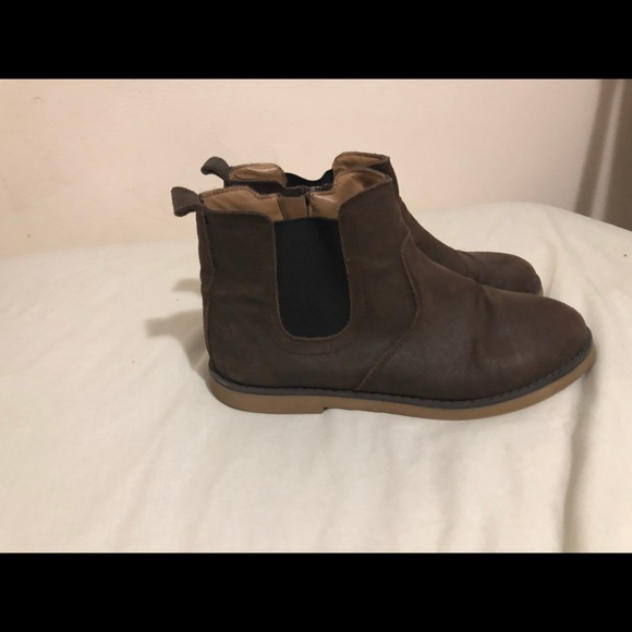 Cat & Jack Shoes - Brown Suede Chelsea Booties